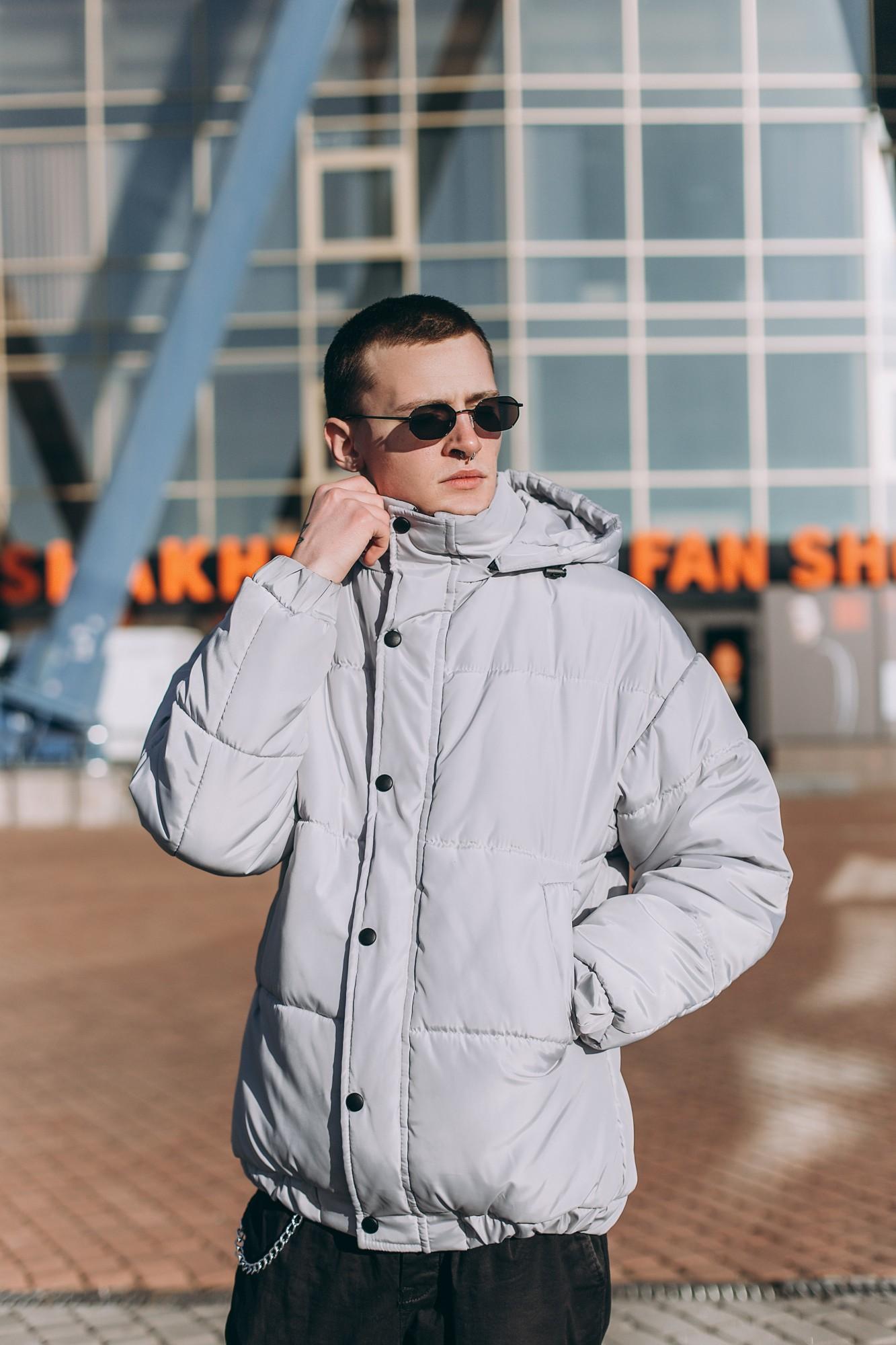 Мужская зимняя куртка V-01 серая Vidlik