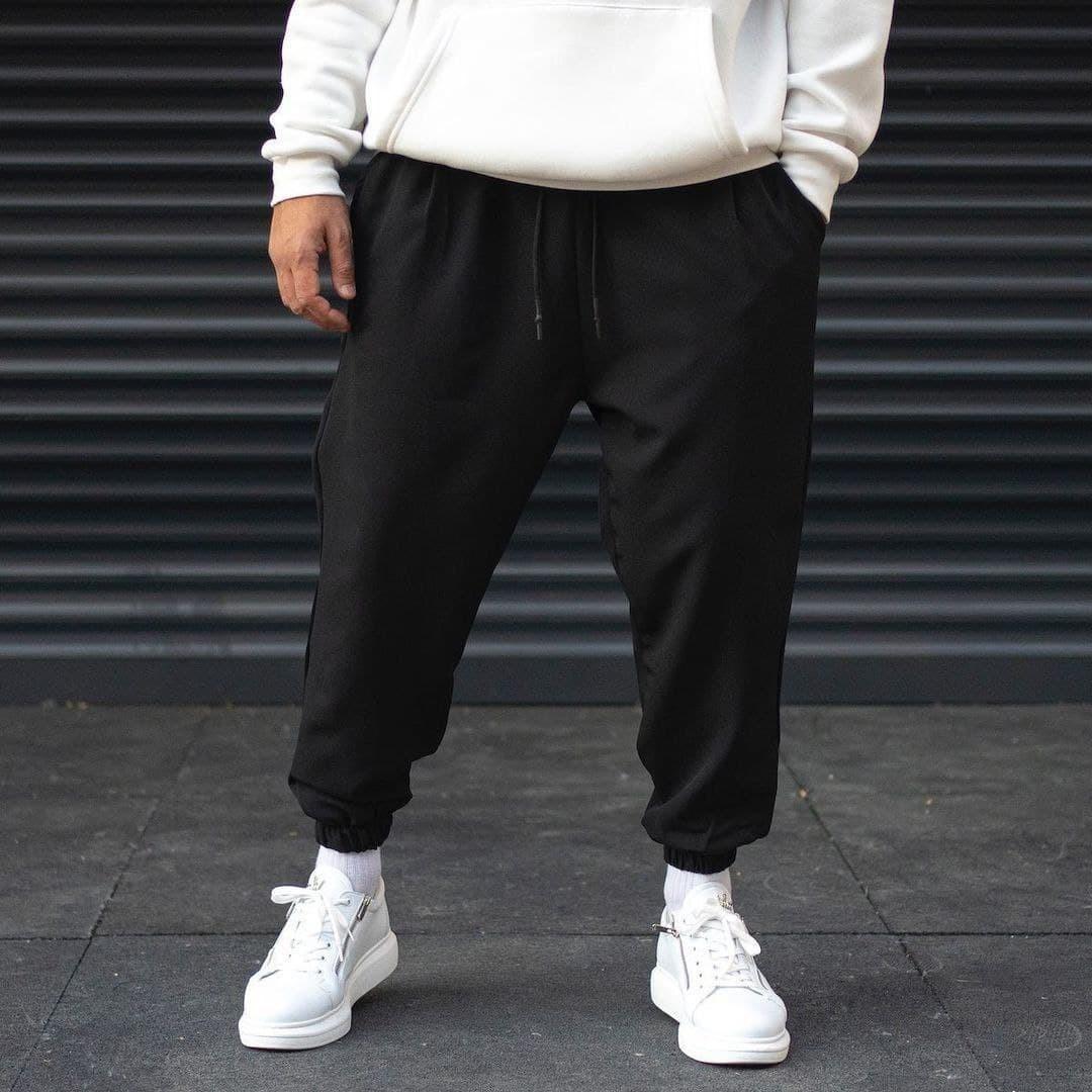 Мужские спортивные штаны трикотажные Over черные Vidlik