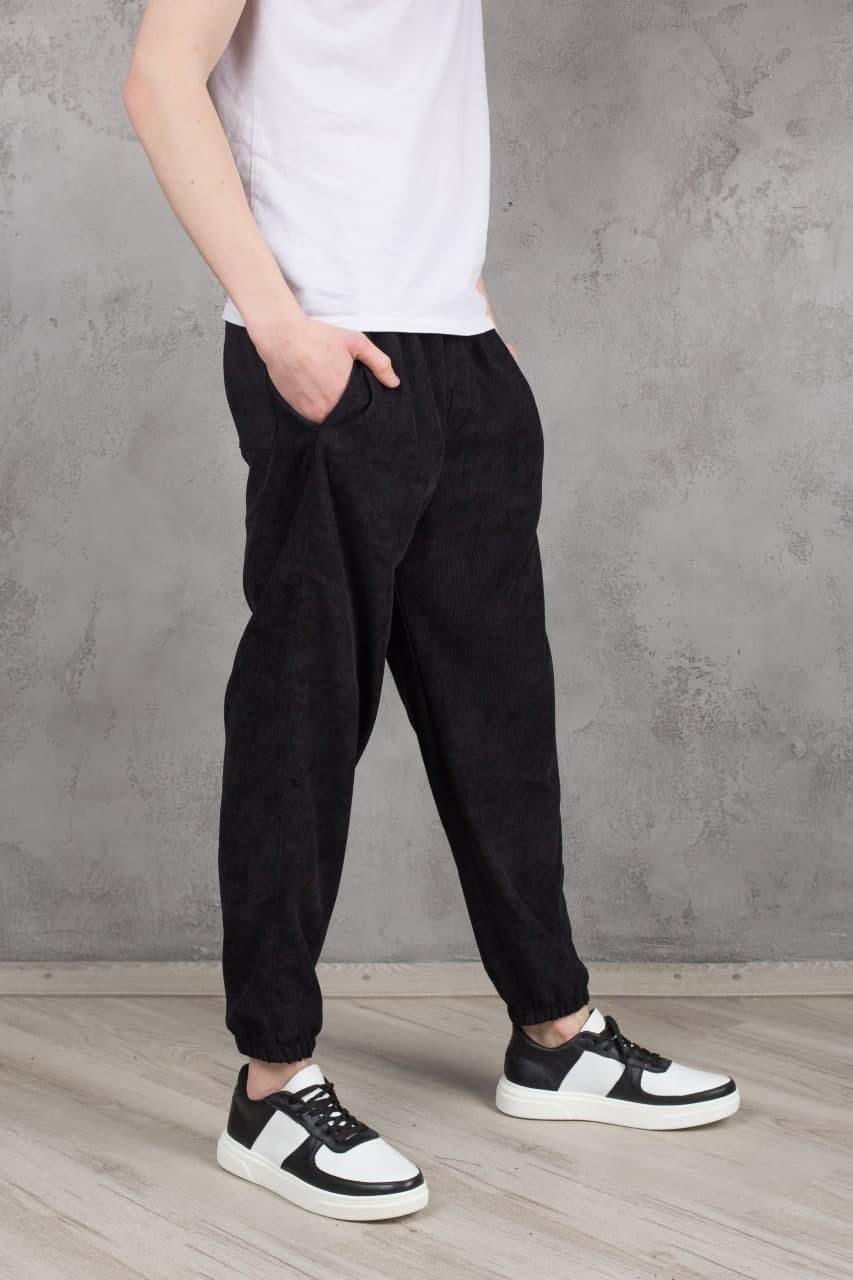 Мужские вельветовые штаны Velvet черные Vidlik