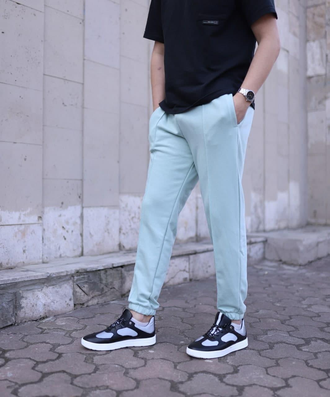 Мужские трикотажные спортивные штаны Seam оливковые Vidlik