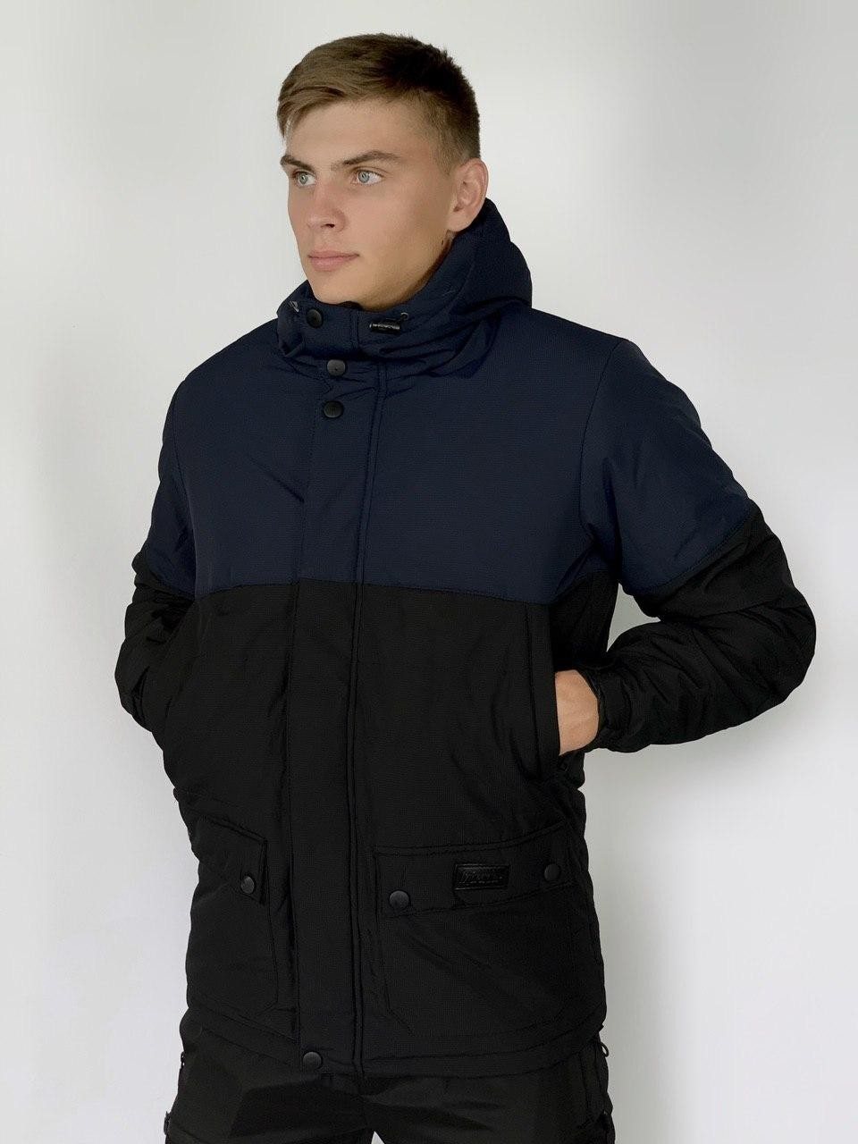 Демисезонная Куртка Intruder Waterproof синий - черный