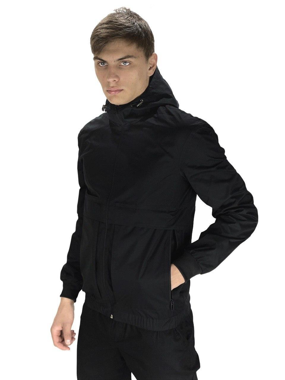 Мужская весенняя куртка, ветровка Intruder Sprinter черная