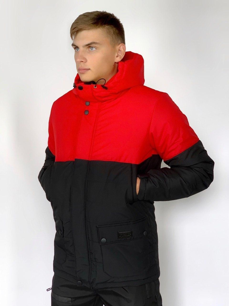 Демисезонная Куртка Intruder Waterproof красно - черный