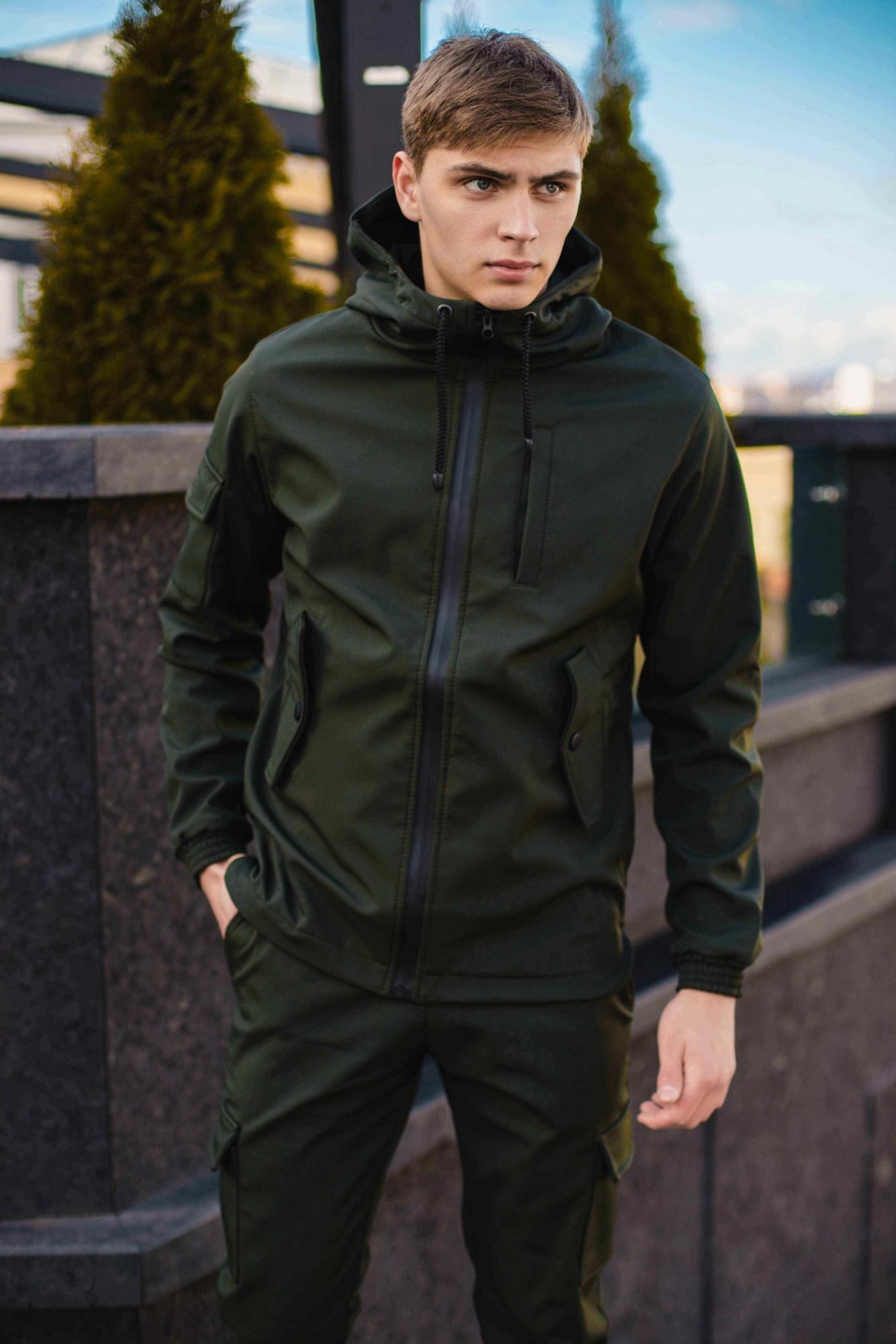 Мужская демисезонная куртка Intruder SoftShell хаки