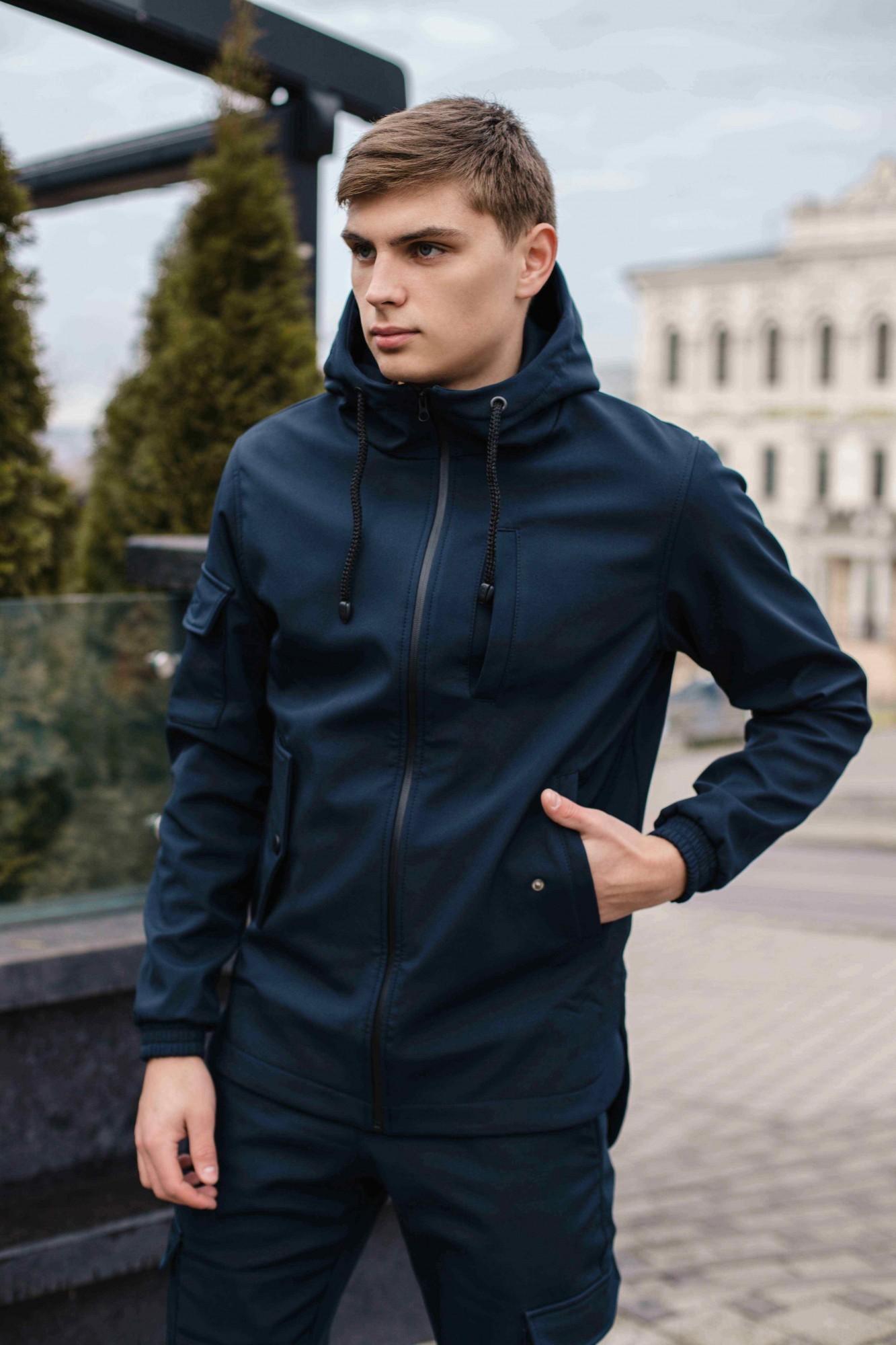 Мужская демисезонная куртка Intruder SoftShell синяя