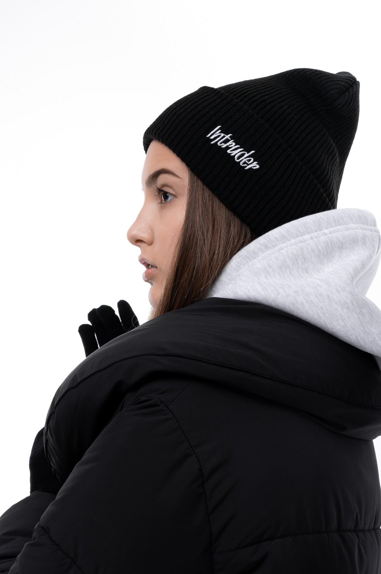 Шапка Женская  Intruder зимняя small logo черная Intruder