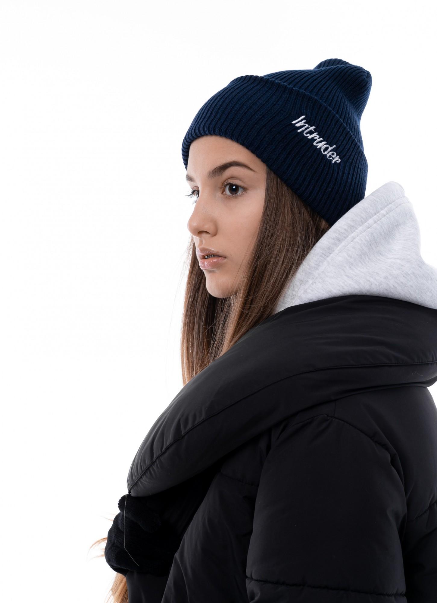 Шапка Женская Intruder зимняя small logo синяя Intruder