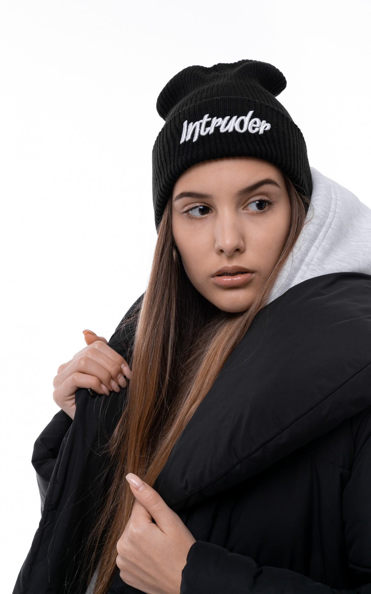 Шапка Женская Intruder зимняя big logo черная Intruder