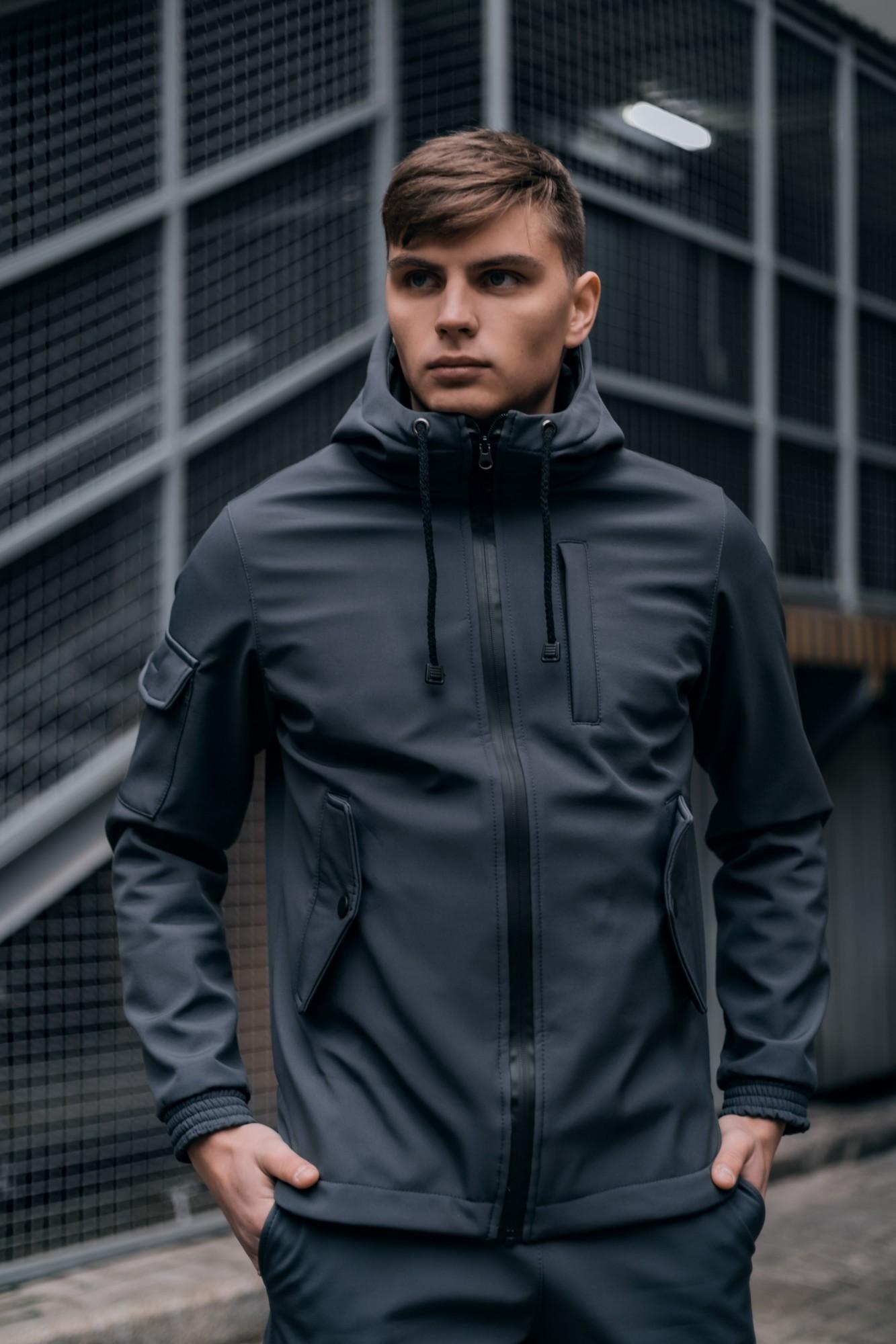 Мужская демисезонная куртка Intruder SoftShell серый S Intruder